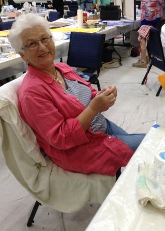 Artist Katalin Ehling during the workshop.