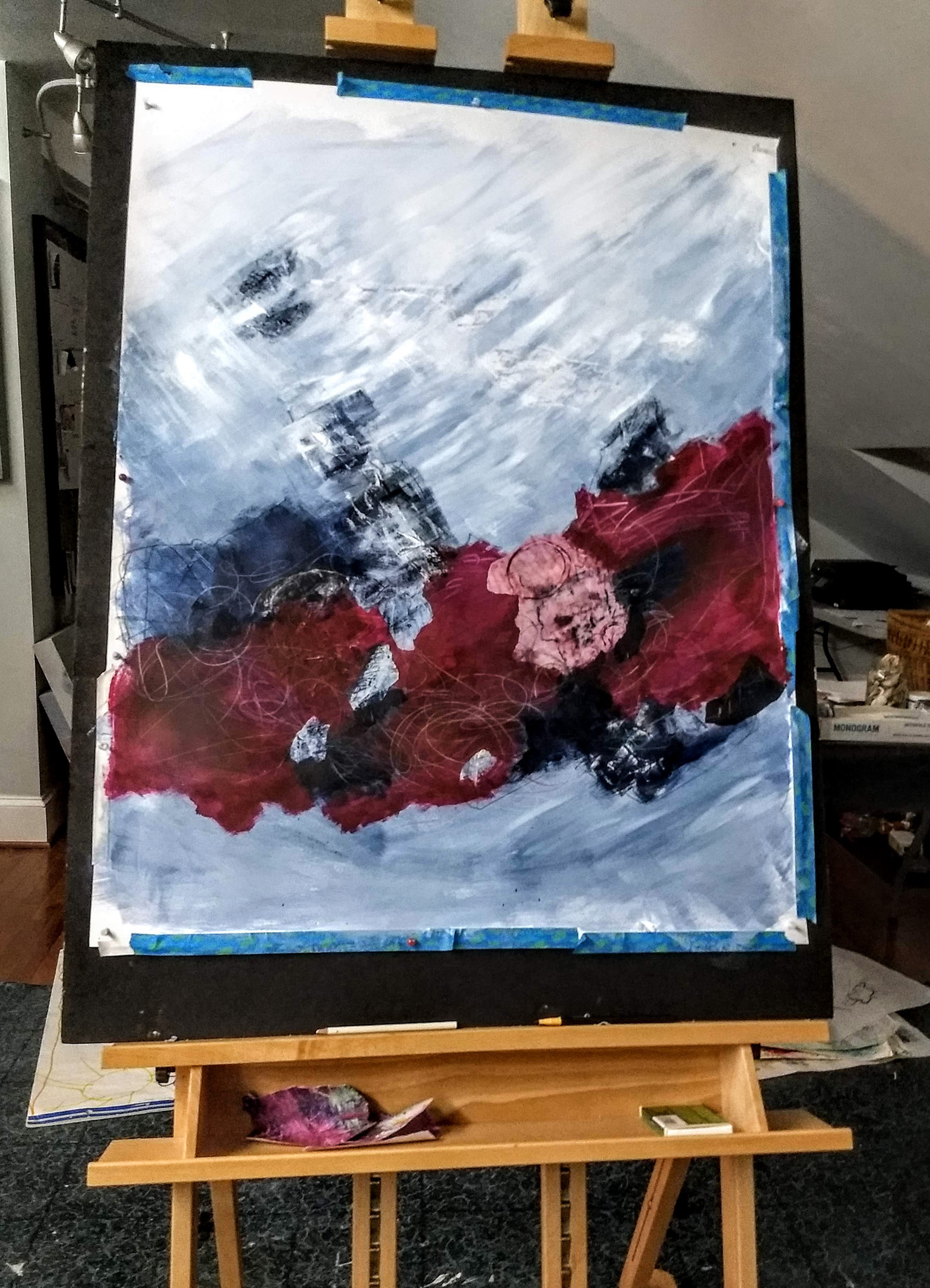 Just playing on paper on the new easel.